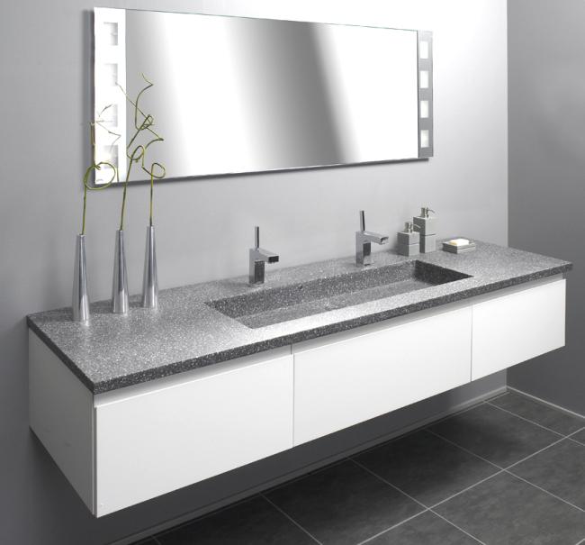 Usædvanlig Hvid grebsfri skuffer og låger til badeværelse MB69
