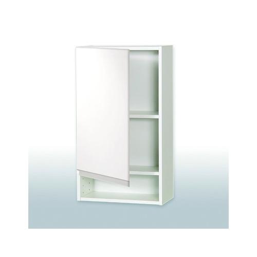 badeværelsesskab Overskab 30 cm til Hvid Højglans Grebsfrit Badeværelsesskab badeværelsesskab