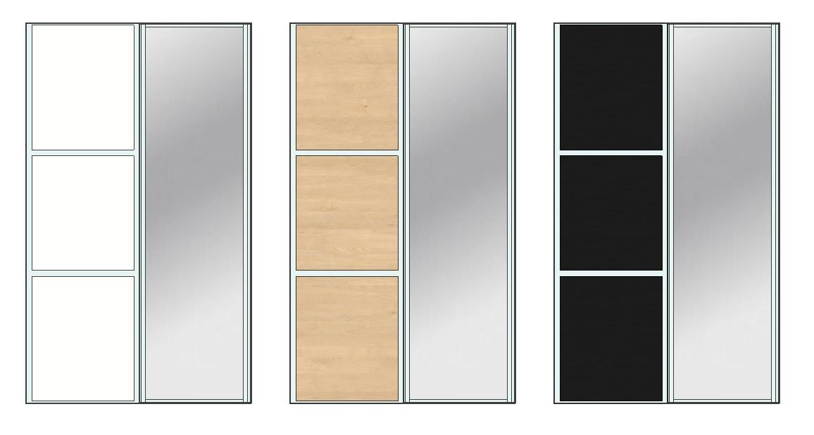 garderobeskab med spejl 250 cm Garderobeskab med 2 skydelåger, 1 skydelåge i spejl garderobeskab med spejl